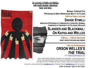 February 9th, Kafka and Welles