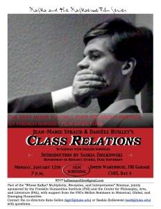 Film Poster Straub Huillet Class