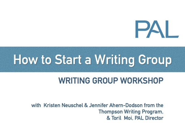 How to start a writing group