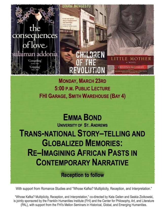March 23rd Transnational Storytelling