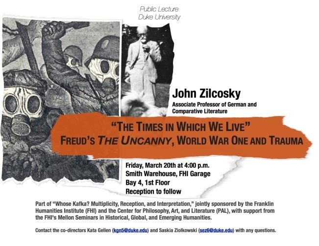 Zilcosky, Uncanny Freud WWI