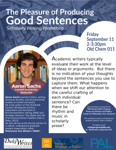 Aaron Sachs Letter