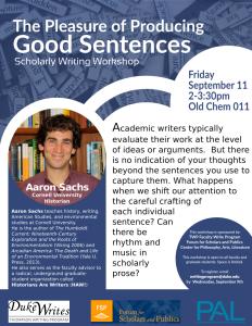Aaron Sachs Letter