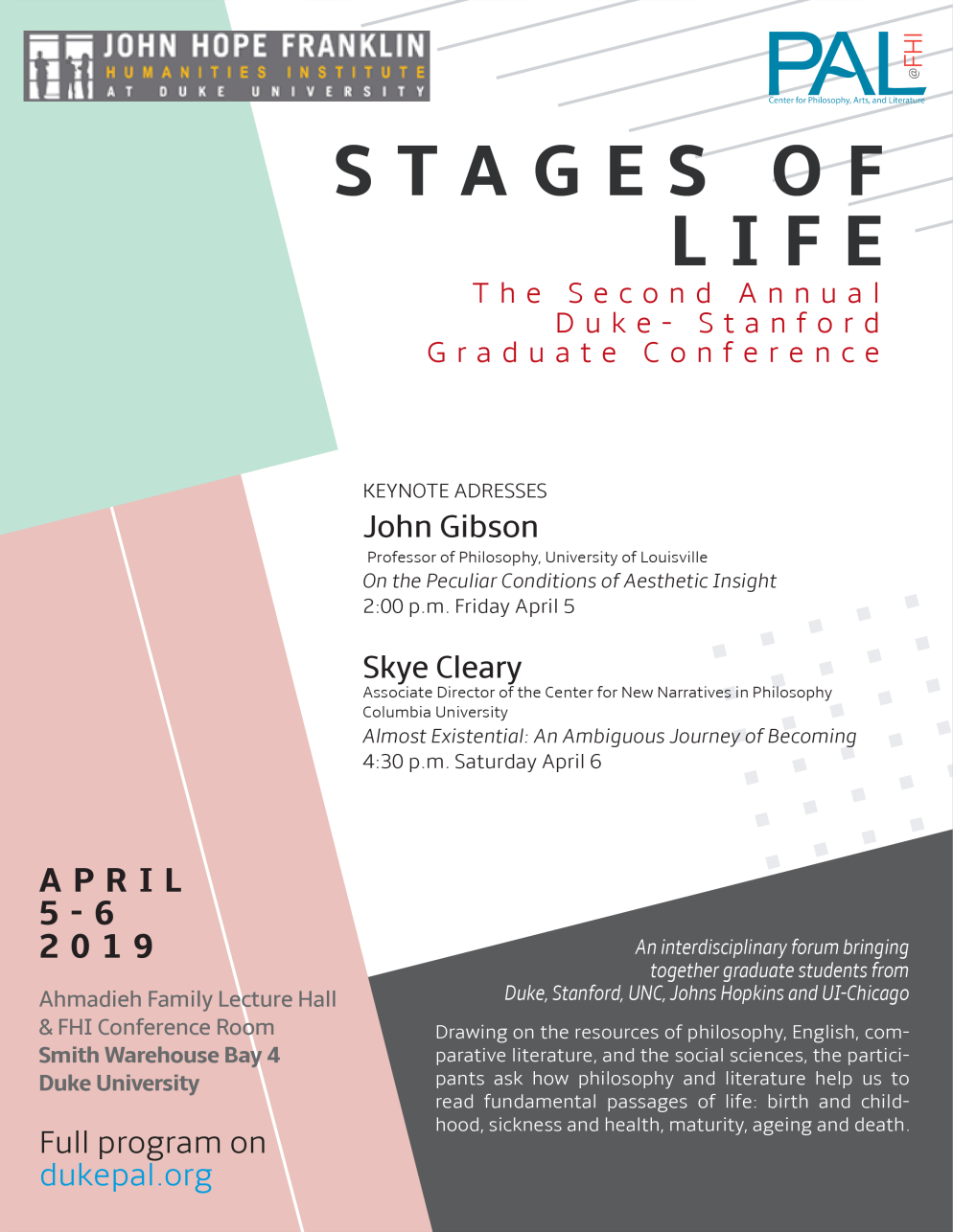 Stages of Life – The Second Annual Duke-Stanford Graduate Conference