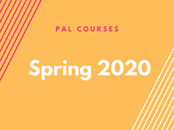 Cover slide for PAL Courses Spring 2020
