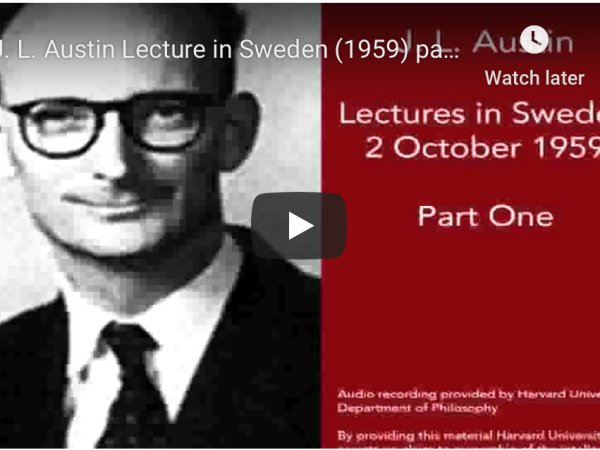 Photo of J.L. Austin Lecture Video