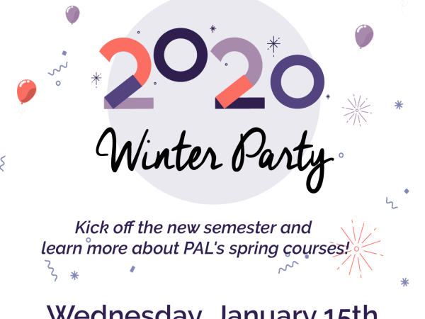 Flyer for PAL Winter Party